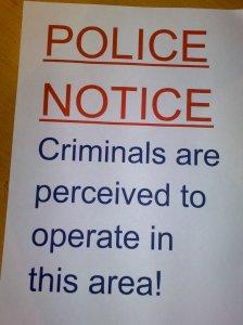 Police notce