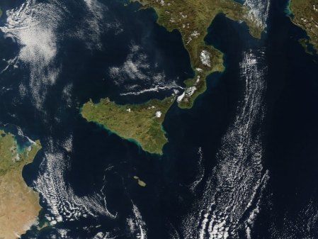 Ash Flow from Mount Etna - NASA/courtesy of nasaimages.org