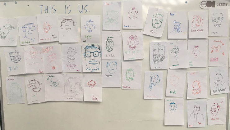 Drawings of all the designers