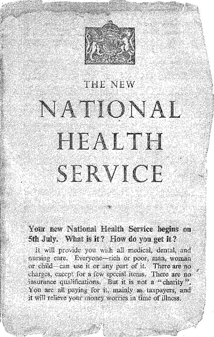 The New National Health Service leaflet page 1